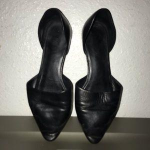 Vince black leather flats sandals  (3 pairs)